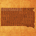South Dakota Word Art State Map on Canvas by Design Turnpike