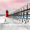South Haven Light And Pier by Optical Playground By MP Ray