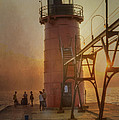 South Haven Michigan Lighthouse by Evie Carrier