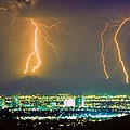 South Mountain Lightning Strike Phoenix Az by James BO  Insogna