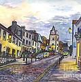 Nightfall At South Queensferry Edinburgh Scotland At Dusk by Carol Wisniewski