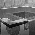 South Tower Pool In Black And White by Rob Hans