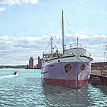 Southampton Docks Ss Shieldhall Ship by Martin Davey