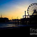 Southern California Santa Monica Pier Sunset by Paul Velgos