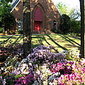 Southern Church In Bloom by Matthew Seufer