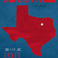 Southern Methodist University Mustangs Dallas Texas College Town State Map Poster Series No 098 by Design Turnpike