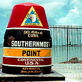 Southern Most Point In Key West Florida by Susanne Van Hulst