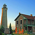 Southport Lighthouse On Simmons Island by Kay Novy