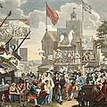 Southwark Fair, 1733, Illustration by William Hogarth