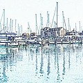 Soveriegn Harbor In Pencil by Sharon Lisa Clarke