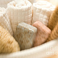 Spa Basket With Soaps by Iris Richardson