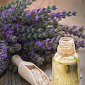 Spa With Lavender Oil And Bath Salt by Mythja  Photography