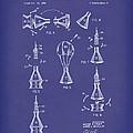 Space Capsule 1961 Mercury Patent Art  Blue by Prior Art Design