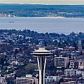 Space Needle 12th Man Seahawks by Mike Reid