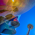 Space Needle And Emp In Perspective Hdr by Scott Campbell