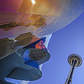 Space Needle And Emp In Perspective Non Hdr by Scott Campbell