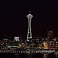 Space Needle At Night by Marv Russell