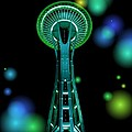 Space Needle In Aqua 2 by Chalet Roome-Rigdon