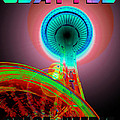 Space Needle Poster Work A by David Lee Thompson