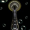 Space Needle With Bubbles 1 by Chalet Roome-Rigdon