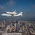 Space Shuttle Endeavour Over Houston Texas by Movie Poster Prints