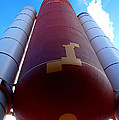 Space Shuttle Fuel Tank And Boosters by Katy Hawk