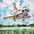 Space Shuttle Landing by Fabrizio Cassetta