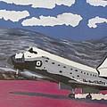 Space Shuttle Landing In The Desert by Jose Bernal
