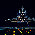 Space Shuttle Night Landing by Chad Rowe