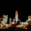 Space Shuttle Night Launch by Chad Rowe
