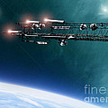 Space Station Communications Antenna by Antony McAulay