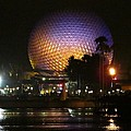 Spaceship Earth At Night by Zina Stromberg