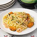 Spaghetti With Sea Food by Alain De Maximy