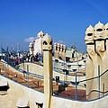 Spain -  Barcelona - Gaudi - Casa Mila by Jacqueline M Lewis