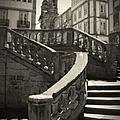 Plaza Stairs In Spain Series 24 by Carlos Diaz