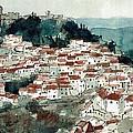 Spanish Hillside Village by Renee Benoit