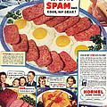 Spam 1960s Usa Hormel Meat Tinned by The Advertising Archives