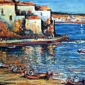 Spanish Fishing Village by Philip Corley
