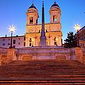 Spanish Steps Dawn by Brian Jannsen