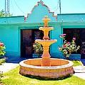 Spanish Water Fountain De San Francisco Conchos by Peggy Leyva Conley