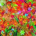 Sparking Butterflies Flowers by Martha Nelson
