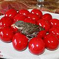 Sparrow On Red Eggs by Augusta Stylianou