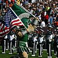 Sparty At Football Game by John McGraw