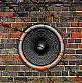 Speaker On A Cracked Brick Wall by Steve Ball
