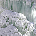 Spectacular Ice Fountain In Letchworth State Park - 6 by Tom Doud