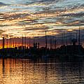 Spectacular Sky - Toronto Beaches Marina by Georgia Mizuleva