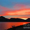 Spectacular Sunset On The Lake. Yellowstone. by Ausra Huntington nee Paulauskaite