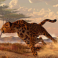 Speeding Cheetah by Daniel Eskridge