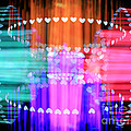 Speeding Hearts Abstract Colorful Light Trails by Beverly Claire Kaiya