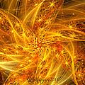Spherical Golden Stars by Peggi Wolfe